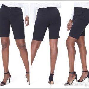 NYDJ Stretch Twill Bermuda Shorts - Black